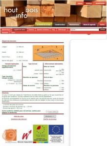 Resultados de los cálculos para un forjado de madera