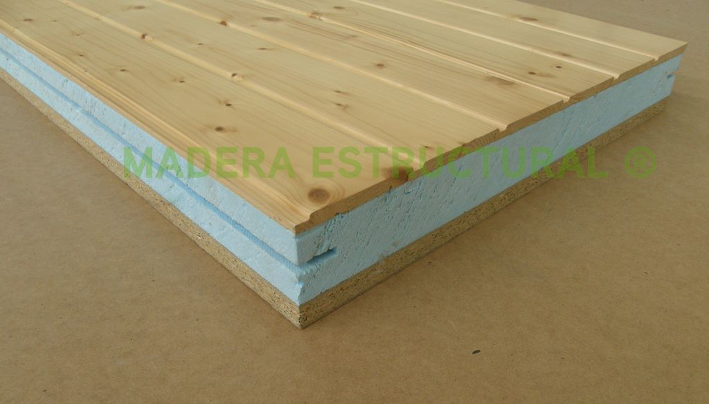 Panel s ndwich madera estructural for Panel aislante termico