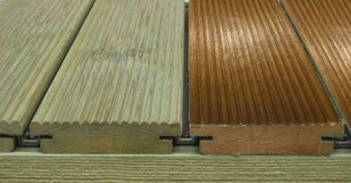 Tarimas de madera natural al exterior madera estructural - Madera de pino tratada ...