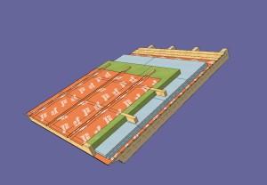 Sándwich de cubierta in situ