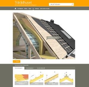 Vista de la web de Träradhuset
