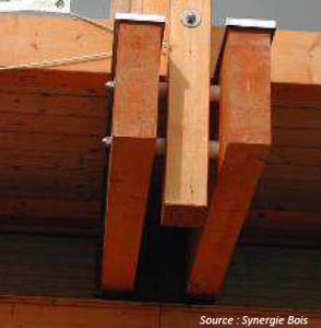 Correcta separación entre caras de piezas de madera.