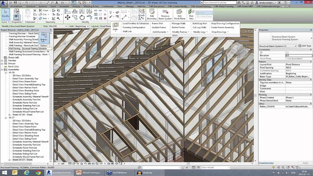 Madera estructural sobre las construcciones en madera for Roof drawing software