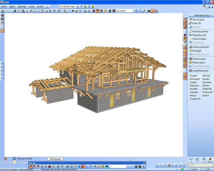 Madera estructural sobre las construcciones en madera for Programme 3d maison